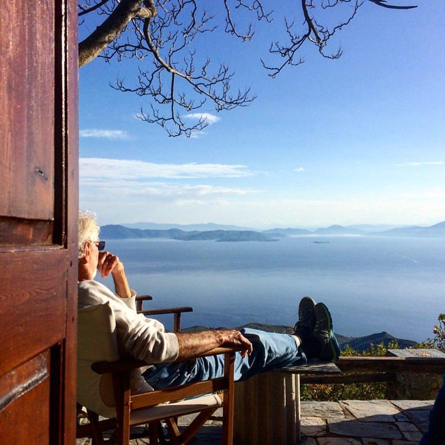 relaxing & enjoying the view