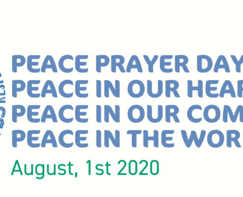 Peace Prayer Day. Peace in our heart. Peace in our communities. Peace in the world.